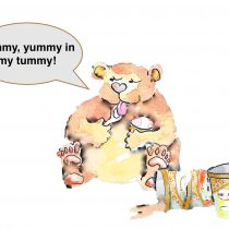 tummyの使い方は- yummy, yummy in my tummy