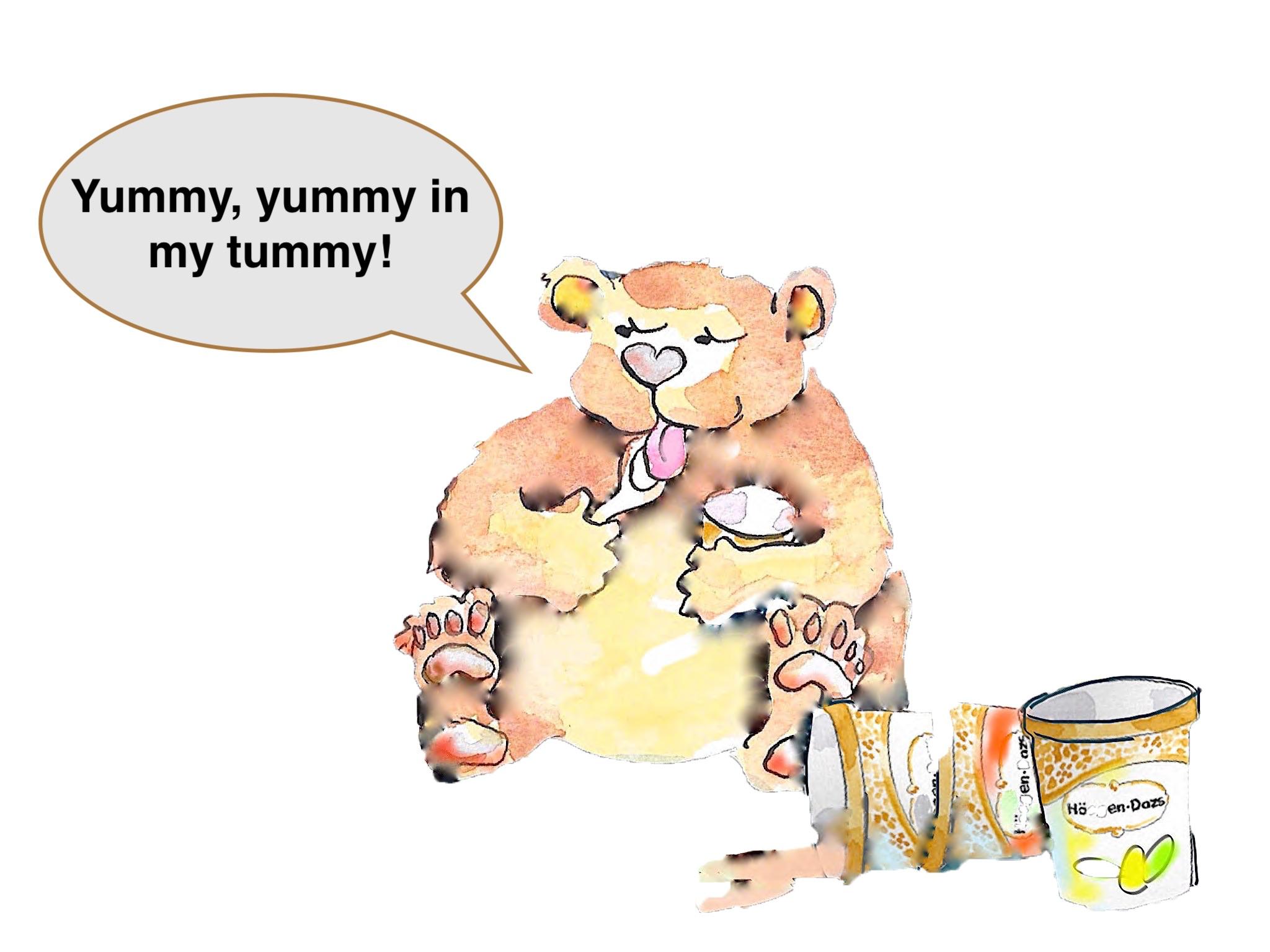 tummyの使い方は- yummy, yummy in my tummy